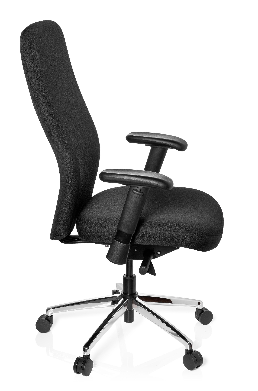 schwerlast b rostuhl chefsessel b rodrehstuhl drehsessel 150 kg schwarz b m ebay. Black Bedroom Furniture Sets. Home Design Ideas