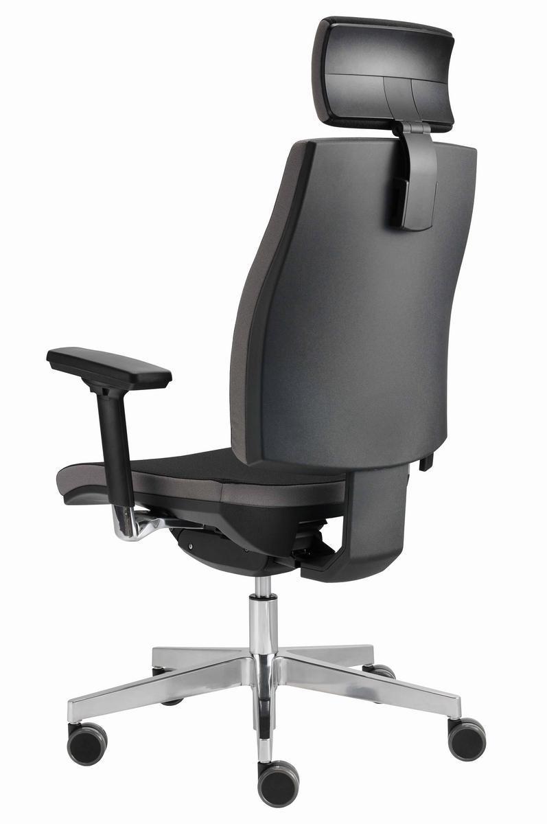 ergonomischer chefsessel drehsessel b rostuhl drehstuhl xxl polster alu b m ebay. Black Bedroom Furniture Sets. Home Design Ideas