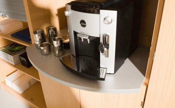 Ablageplatte für Kaffeemaschine
