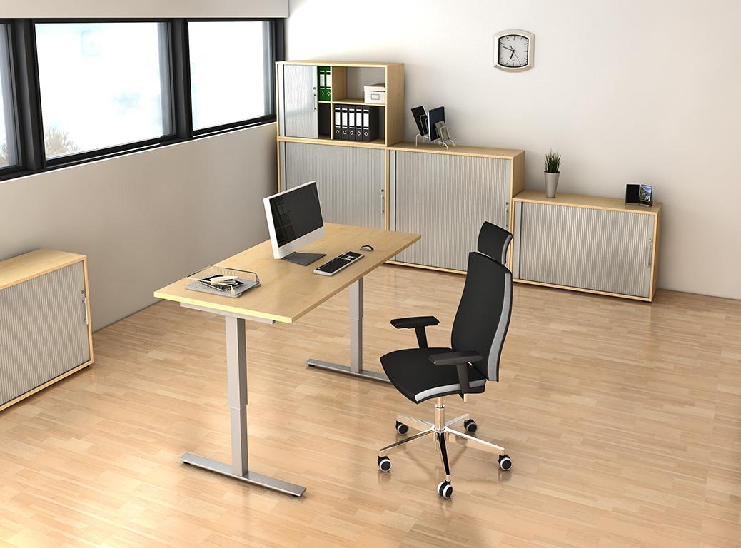 rollladenschrank aktenschrank b roschrank abschlie bar holz wei buche b m ebay. Black Bedroom Furniture Sets. Home Design Ideas