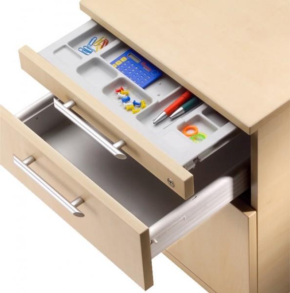 Bümö® Office Rollcontainer mit 3 Schüben mit Schloss