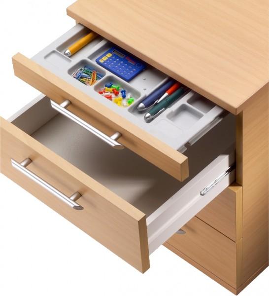 b m rollcontainer aus holz mit 3 schubladen und schreibwarenschub b rom bel. Black Bedroom Furniture Sets. Home Design Ideas