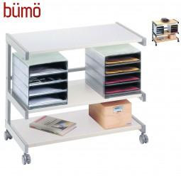 Bümö® Bürowagen auf Rollen mit Ablageboxen für Dokumente & Büromaterial