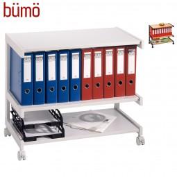 Bümö® Bürowagen auf Rollen für Aktenordner & Büromaterial