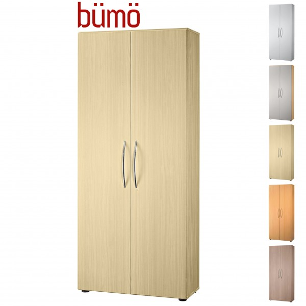 Bümö® Basic Flügeltüren-Aktenschrank für 5 Ordnerhöhen