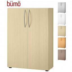 Bümö® Basic Flügeltüren-Aktenschrank für 3 Ordnerhöhen