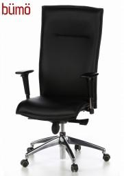 Bümö® Chefsessel mit Echtleder, hohem Rücken & bequemen Sitzpolster