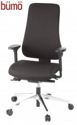 Bümö® ergonomischer XXL Bürostuhl mit Polsterbezug