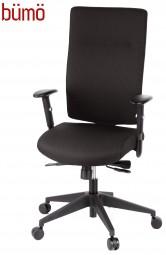 Bümö® Bürostuhl Emy Comfort mit Fusskreuz schwarz