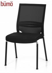 Bümö® Besucherstuhl mit atmungsaktivem Netzrücken & bequemen Sitzpolster
