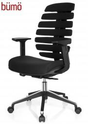 Bümö® Bürostuhl mit hoher & extra ergonomischer Rippenrückenlehne