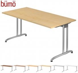 Bümö® Schreibtisch Serie-B in - 7 Dekoren, 9 Größen & Formen