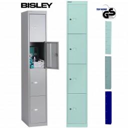 Bisley Garderobenschrank Office - 4 Fächer | Tiefe 457 mm