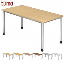 Bümö® Schreibtisch Serie-H in 7 Dekoren, 7 Größen & Formen
