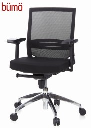 Bümö® Bürostuhl mit atmungsaktivem Netzrücken & bequemen Sitzpolster