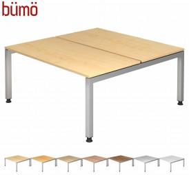 Teamschreibtisch von Bümö®: Serie JD in 7 Dekoren & 2 Größen
