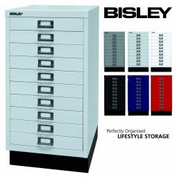 Bisley MultiDrawer™ Schubladenschrank mit 10 Schubladen inkl. Sockel
