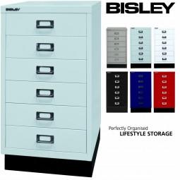 Bisley MultiDrawer™ Schubladenschrank mit 6 Schubladen inkl. Sockel
