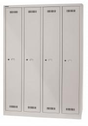 Bisley MonoBloc™ Garderobenschrank - 4 Abteile