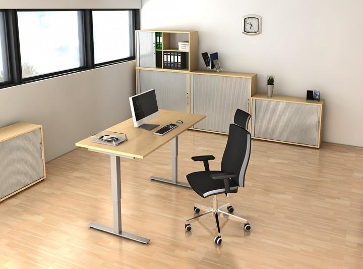 Rolladenschrank Aktenschrank Holz Weis ~ Aktenschrank aus Holz mit Rollläden für 3 Ordnerhöhen  Büromöbel