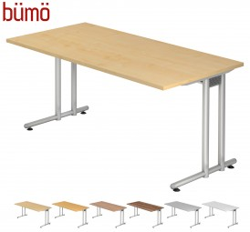 Bümö® Schreibtisch Serie-N in 7 Dekoren, 2 Gestellen, 9 Größen & Formen