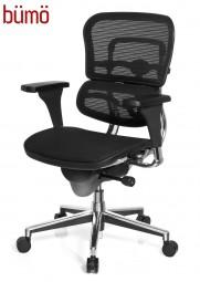 Bümö® Design Bürostuhl mit atmungsaktivem Netzbezug & Syncronmechanik
