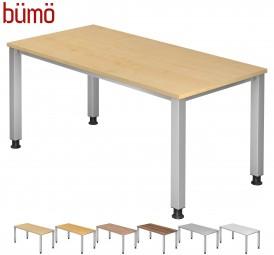 Bümö® Schreibtisch Serie-Q in 7 Dekoren, 7 Größen & Formen