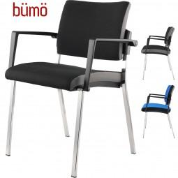 Bümö® Besucherstuhl Paar (2 Stück) Konferenzstuhl mit 4-Fußgestell & Armlehnen