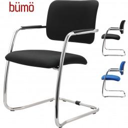 Bümö® Freischwinger Paar (2 Stück) - Besucherstuhl mit integrierten Armlehnen