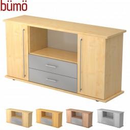 Bümö® Sideboard mit Flügeltüren und Schubladen