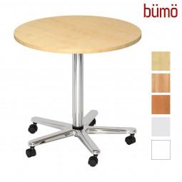 Bümö® Besprechungstisch - höhenverstellbarer Säulenhubtisch (rund)