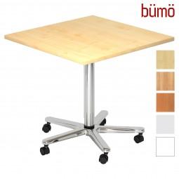 Bümö® Besprechungstisch - höhenverstellbarer Säulenhubtisch (eckig)