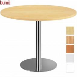 Bümö® Besprechungstisch - Säulentisch mit Chromsäule