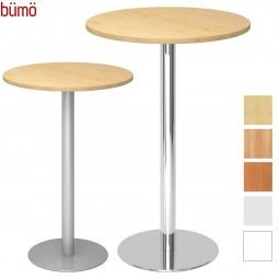 Bümö® Stehtisch rund - Säulentisch mit Silber- oder Chromfuß