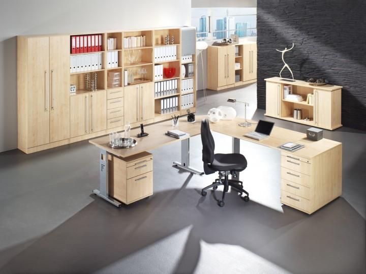 b m office aktenschrank aus holz f r 3 ordnerh hen b rom bel. Black Bedroom Furniture Sets. Home Design Ideas