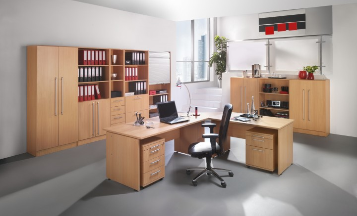 b m office aktenschrank aus holz f r 5 ordnerh hen b rom bel. Black Bedroom Furniture Sets. Home Design Ideas