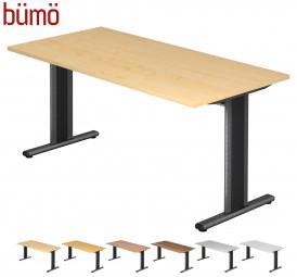 Bümö® Schreibtisch Serie-T in 7 Dekoren, 7 Größen & Formen