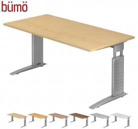 Bümö® Schreibtisch Serie-U in 7 Dekoren, 2 Gestellen, 9 Größen & Formen