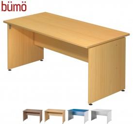 Bümö® Schreibtisch Serie-W in 4 Dekoren, 4 Größen