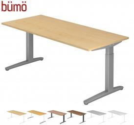 Bümö® Designer Schreibtisch Serie-XB in 7 Dekoren, 6 Größen & 5 Gestellfarben