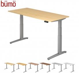 Bümö® ergonomischer Designer Schreibtisch elektrisch höhenverstellbar mit Memoryfunktion