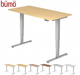 Bümö® ergonomischer Schreibtisch elektrisch höhenverstellbar mit Memoryfunktion