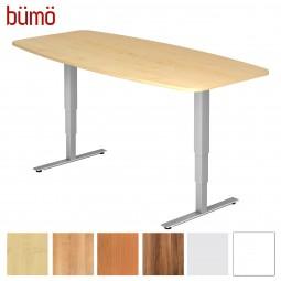Bümö® Konferenztisch elektrisch höhenverstellbar - mit Memoryfunktion (8 Personen)