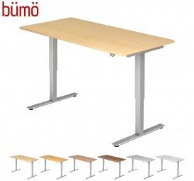 Bümö® ergonomischer Schreibtisch elektrisch höhenverstellbar ohne Memoryfunktion