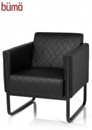 Bümö® Loungesessel mit pflegeleichtem Kunstlederbezug - stilvoll gesteppt