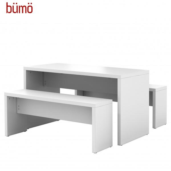 Bümö® Sitzgarnitur - Sitzbänke und Pausentisch einzeln & komplett